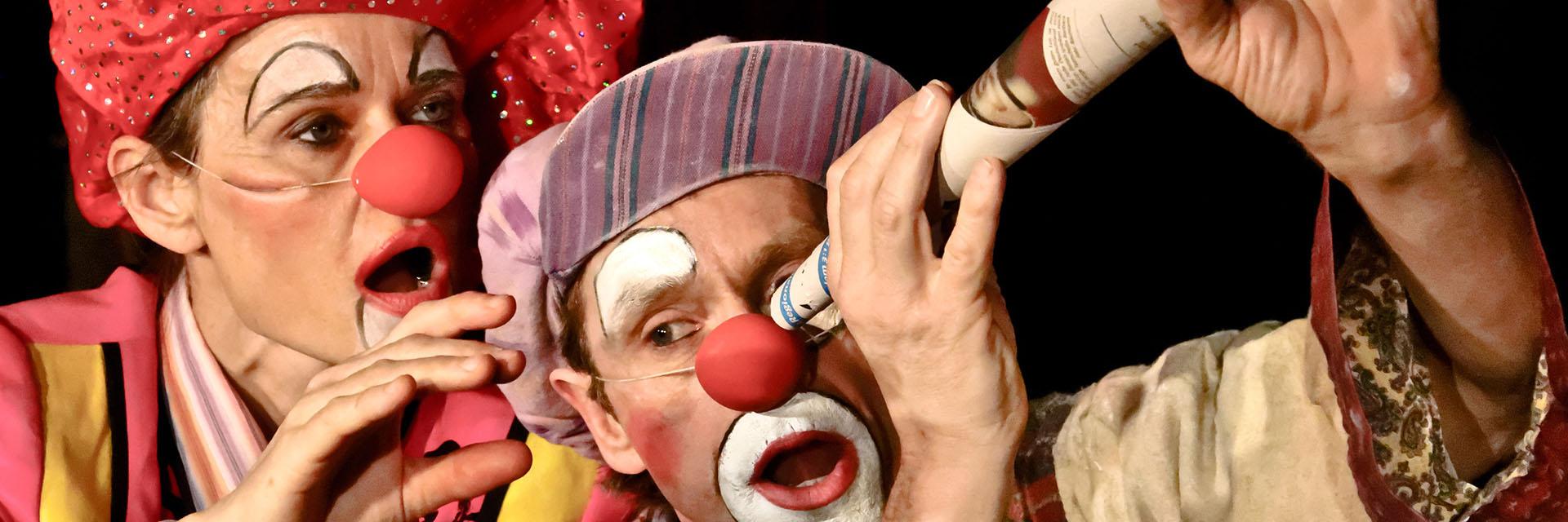 Clowns Ratatui auf Burg Stettenfels